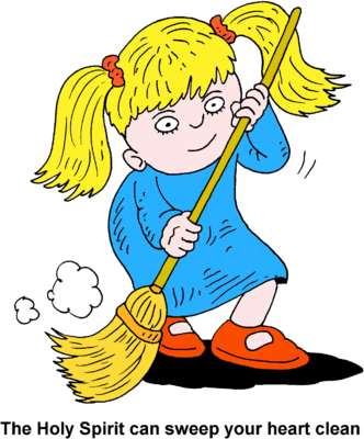 jpg library library Image girl sweeping the. Action clipart swept.