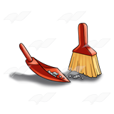 clipart library library Dust dustpan brush free. Broom clipart chore