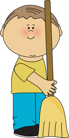jpg freeuse library Boy Classroom Sweeper Clip Art