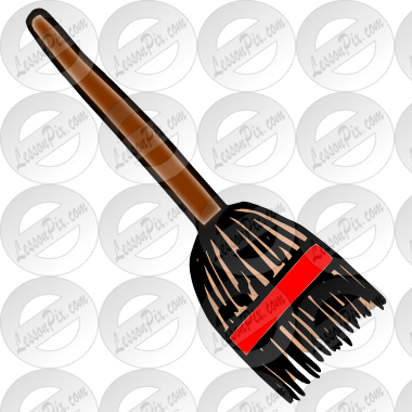 banner royalty free library Broom clipart classroom. Picture for therapy use