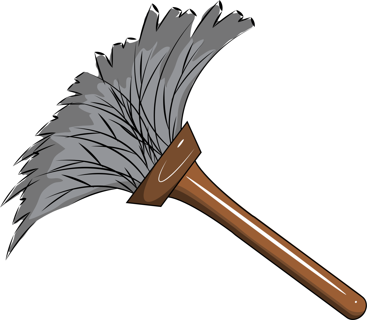clip art freeuse library Feather big image png. Broom clipart duster