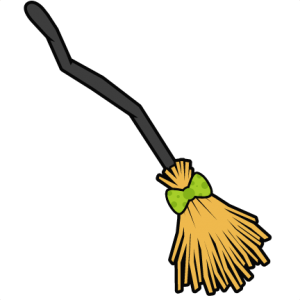banner library stock Broom clipart golden. Miss kate cuttables witch