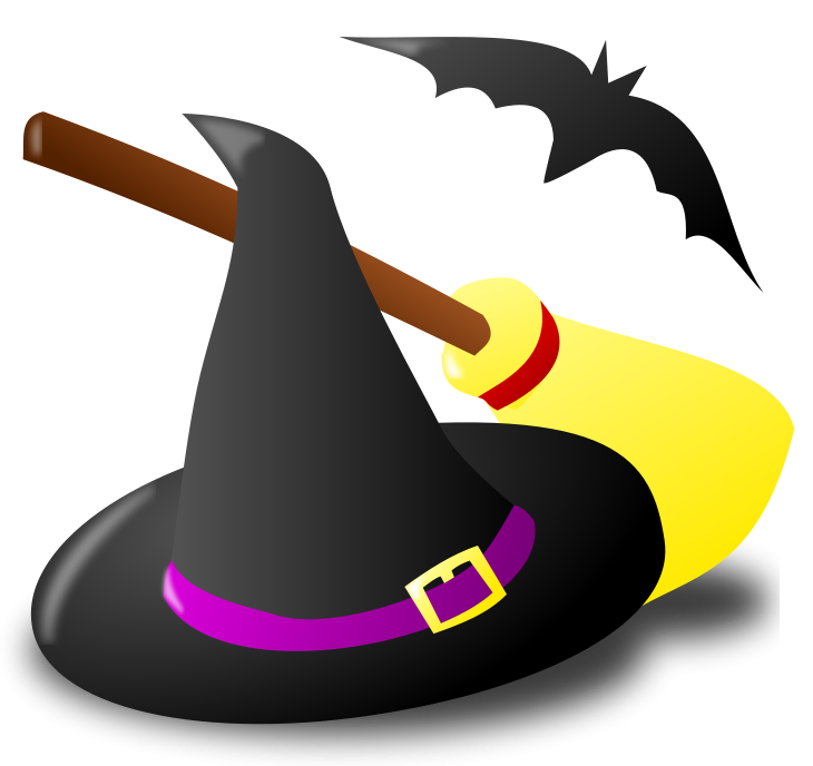 clipart library stock Gymnastics clipart halloween. Witch hat broom and