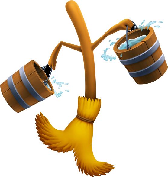 image free Magic brooms disney wiki. Broom clipart mop bucket