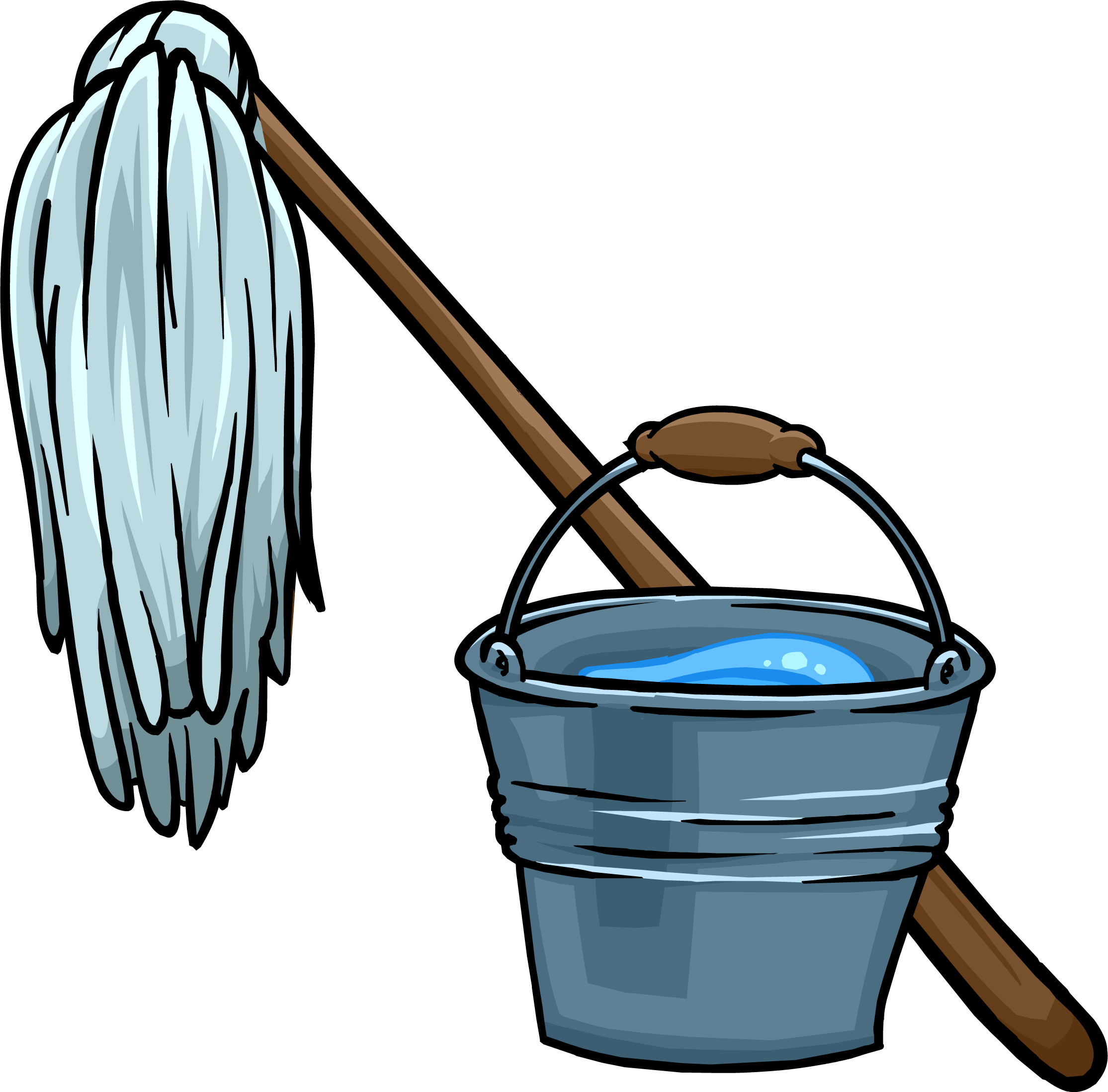 picture download Broom clipart mop bucket. And club penguin wiki