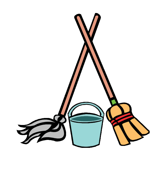 svg free download Cleaning supplies services archives. Broom clipart mop bucket