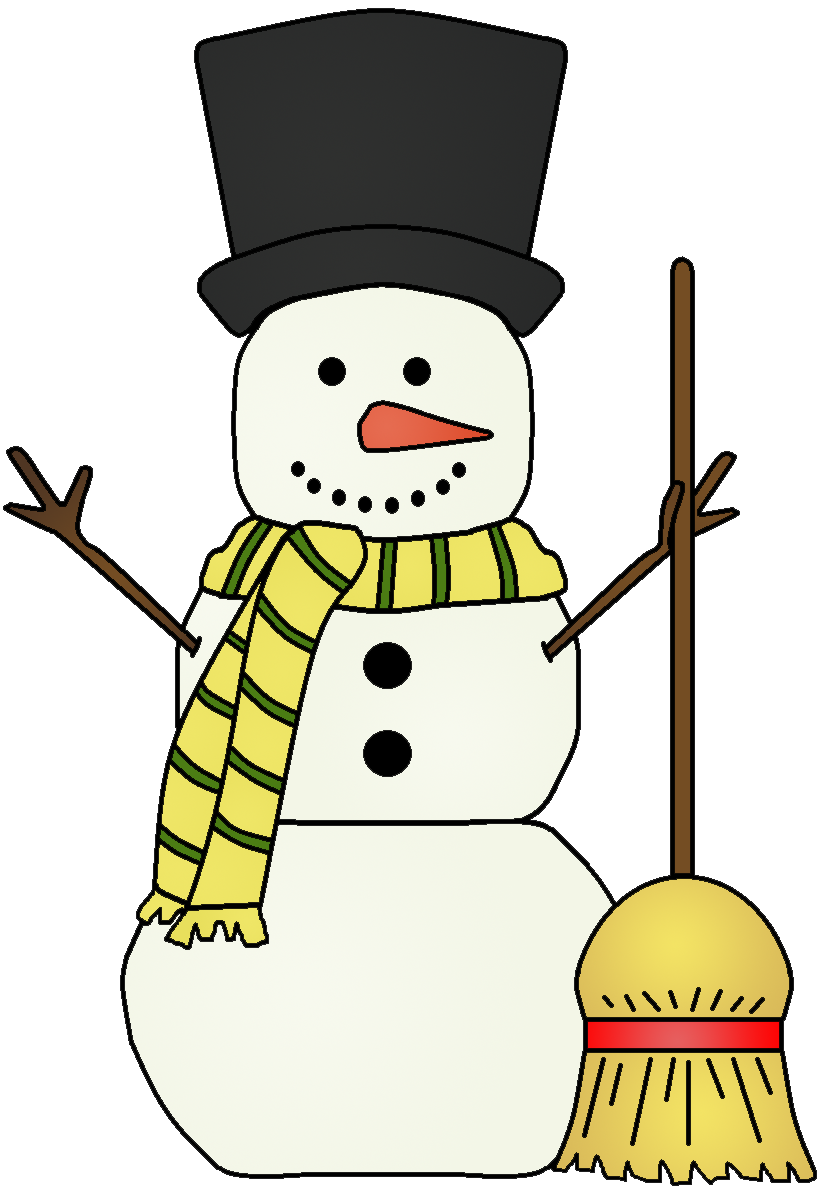 svg transparent library Graphics by ruth snowmen. Broom clipart snowman