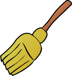 clip art royalty free download Clip art at clker. Broom clipart sweep kitchen.