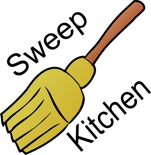 picture royalty free stock Broom clipart sweep kitchen. Chore clip art at.