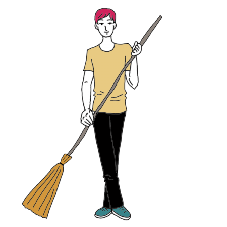 image transparent library Sweeping dream dictionary interpret. Janitor clipart sweeper
