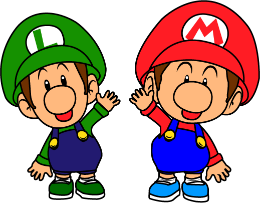 graphic royalty free download Brother clipart happy together. Da baby mario brothers