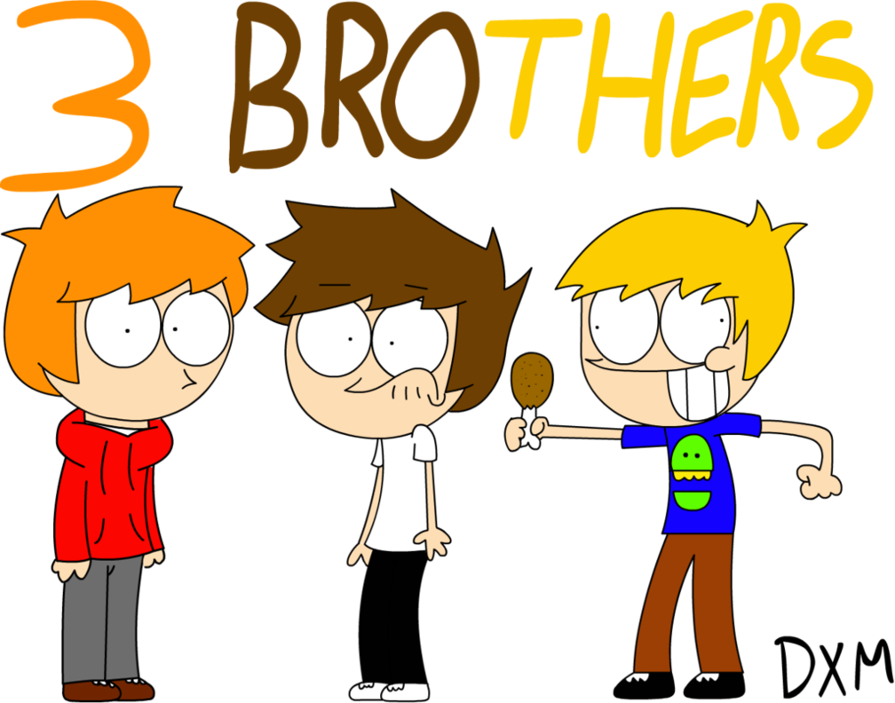 svg royalty free library Brother clipart three. Brothers free for download