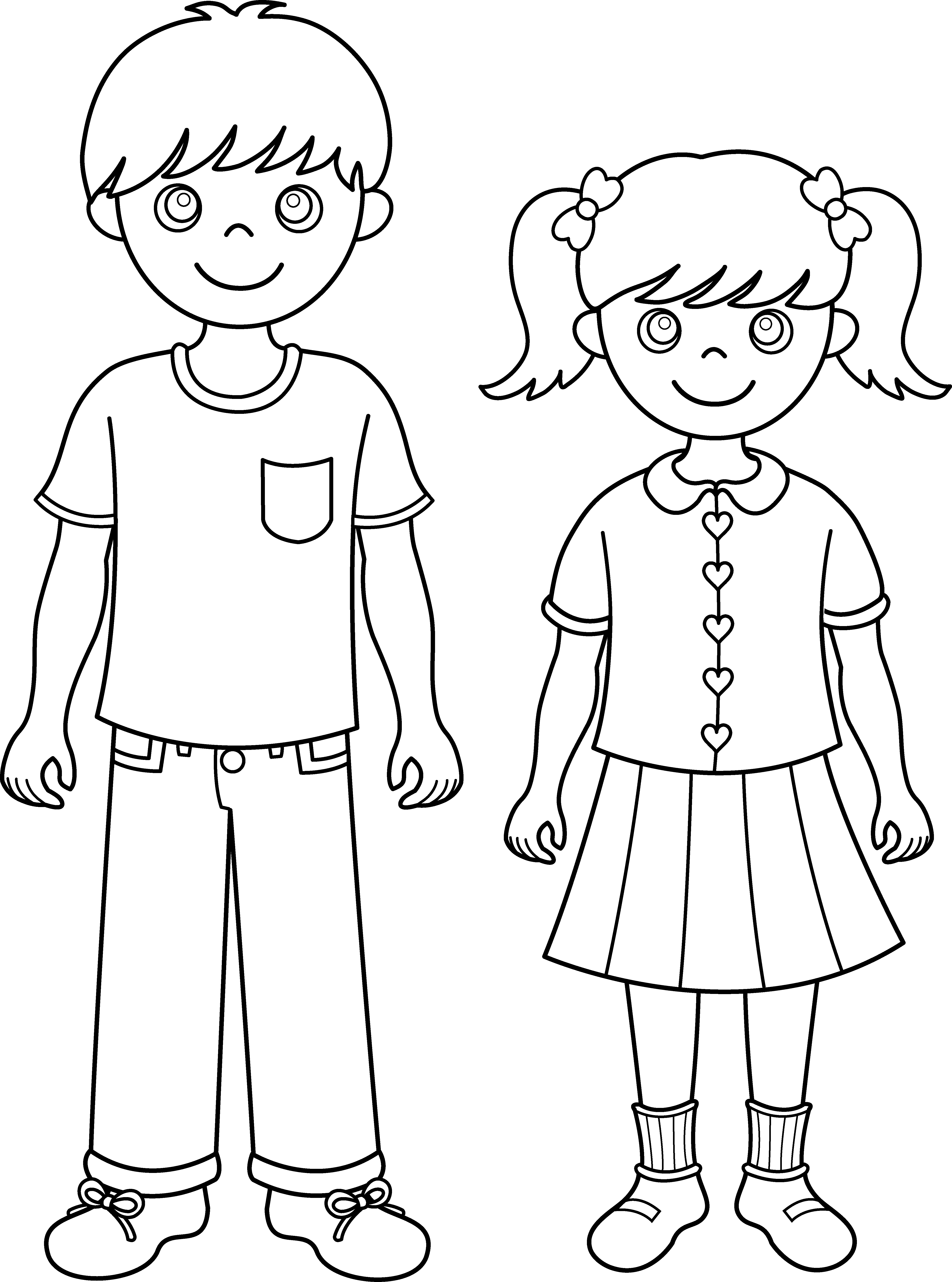 banner transparent download Brother and Sister Line Art