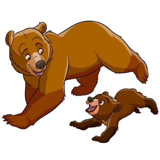 graphic free stock Brothers clipart cute. Mother and baby bear
