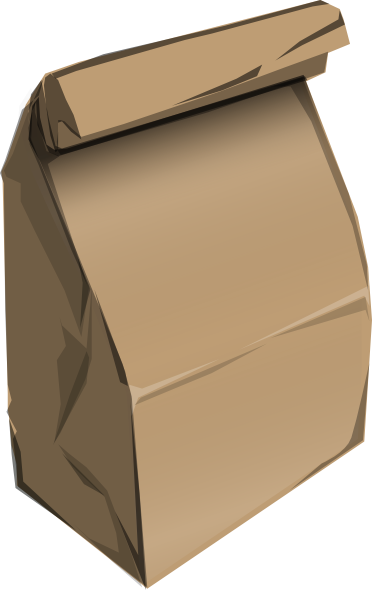clip art royalty free library Brown Bag Clipart