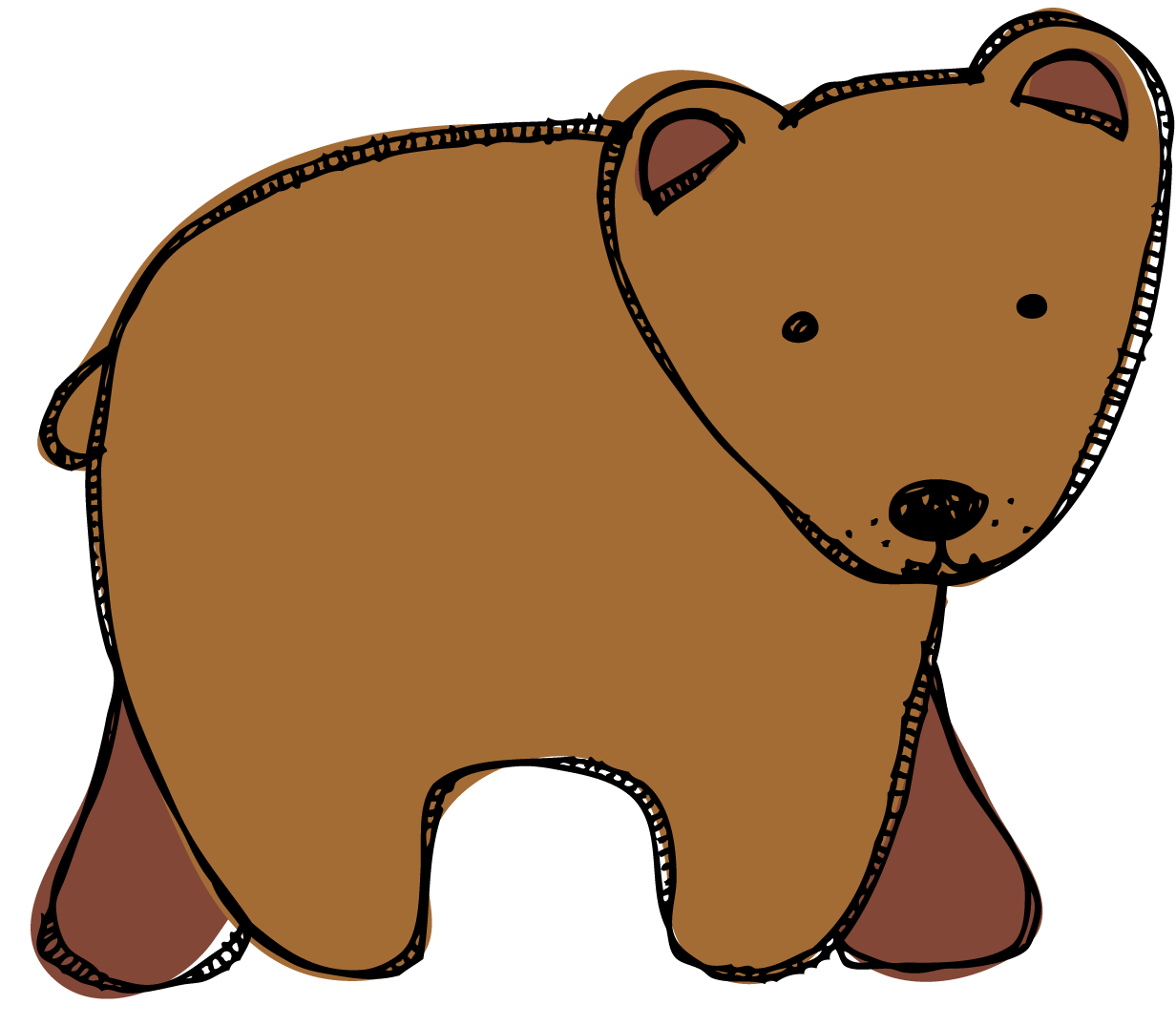 graphic library library European brown bear clipart