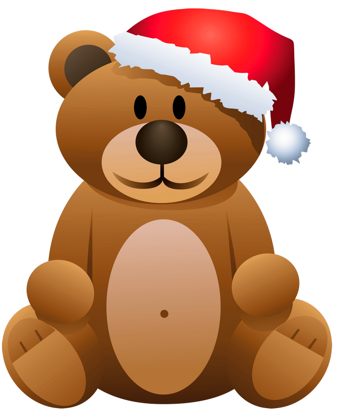 vector black and white download Brown bear clipart. Christmas png gallery yopriceville