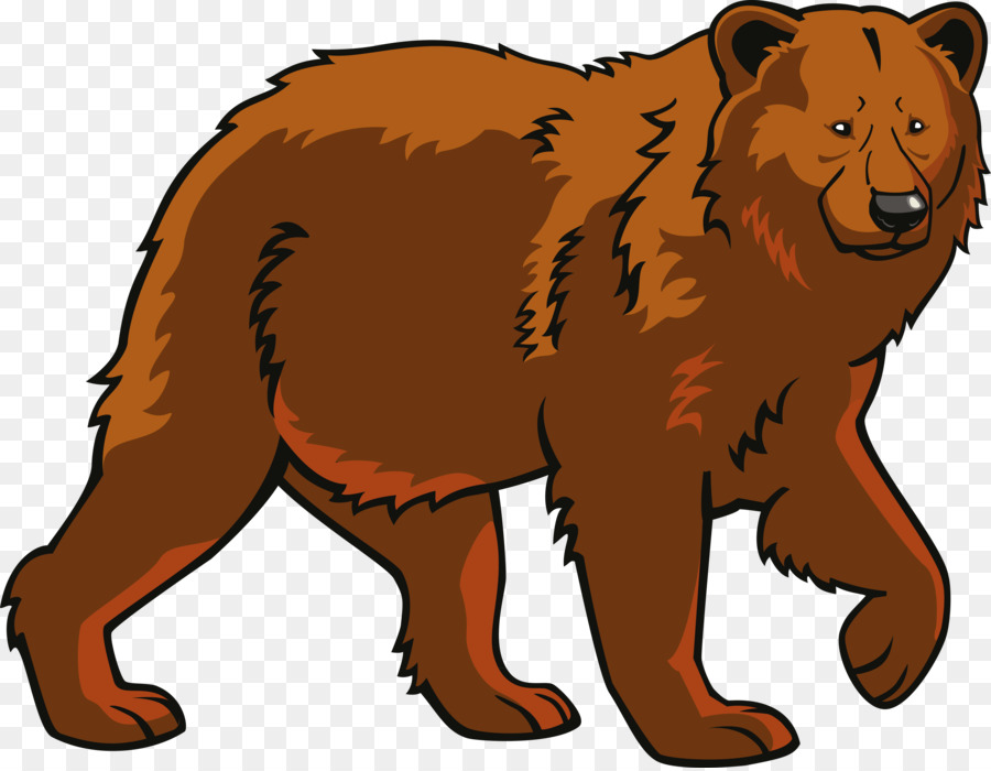 picture Polar cartoon illustration wildlife. Brown bear clipart