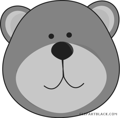 jpg free library Brown bear clipart black and white. Page of clipartblack com