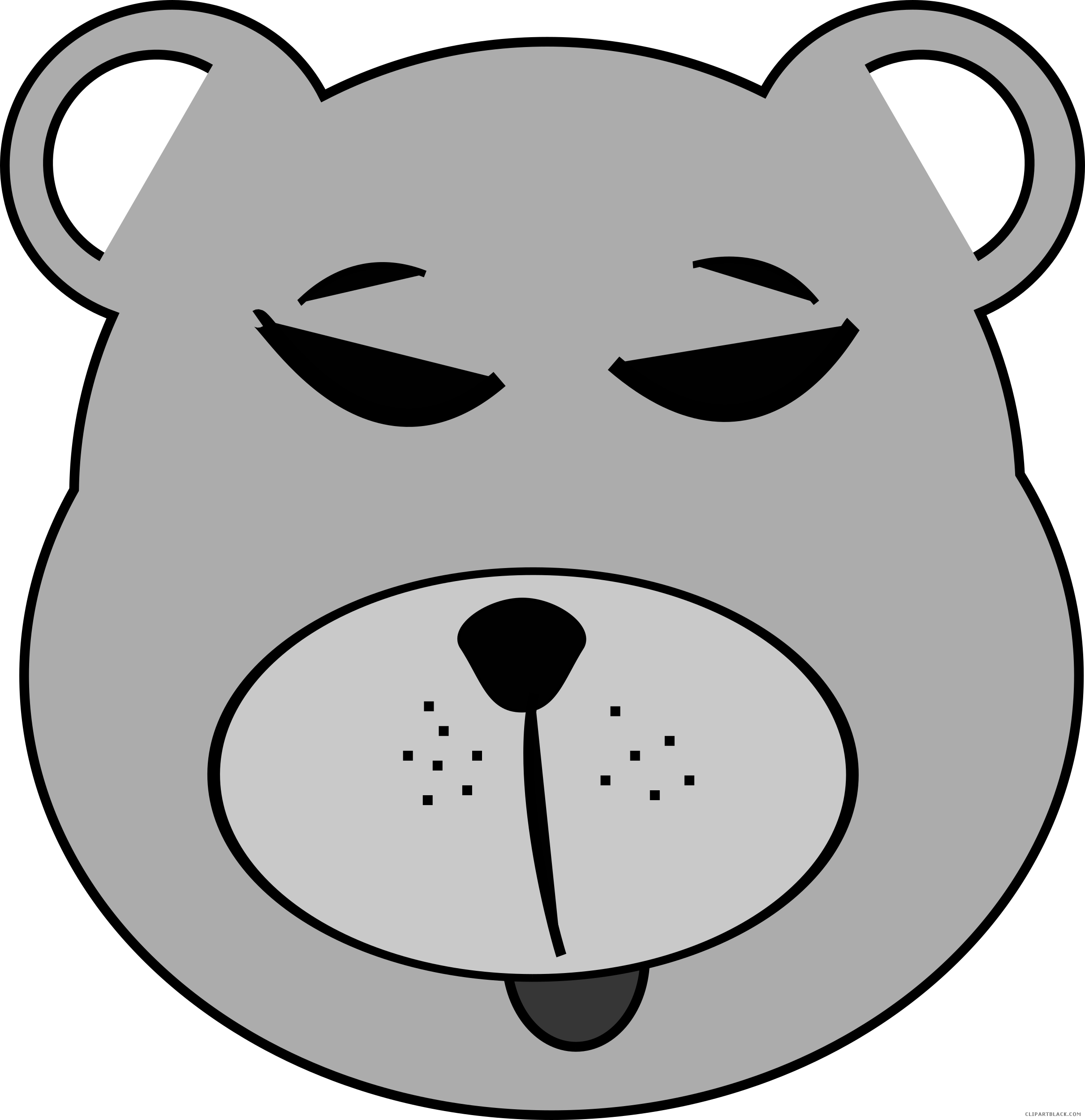banner royalty free Brown bear clipart black and white. All about source clipartblack