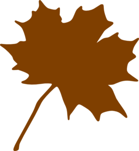 jpg transparent library Brown clipart. Leaf .