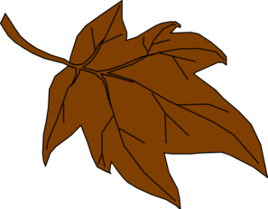 svg free library Fall leaves . Brown clipart