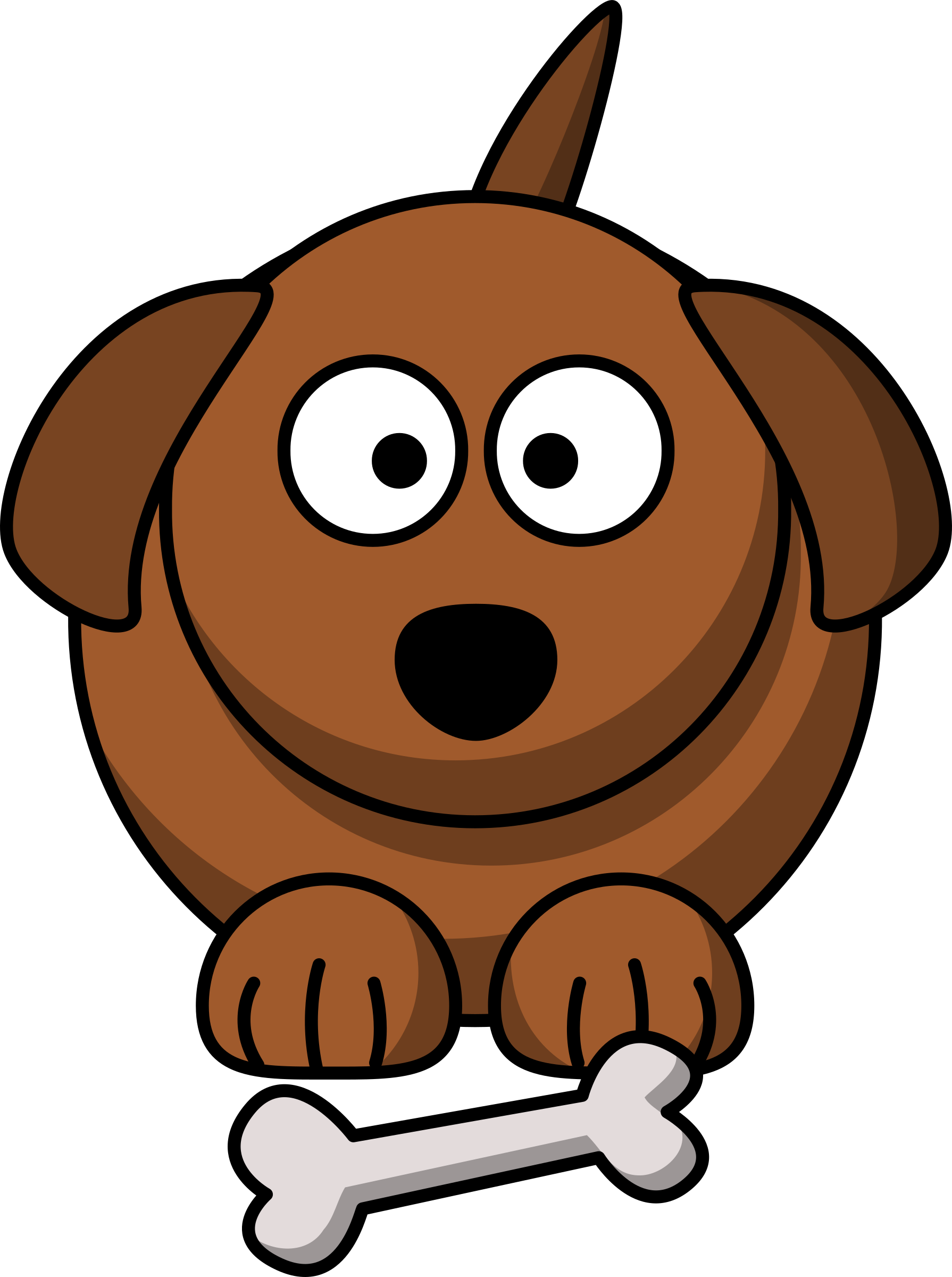 black and white stock Brown clipart cartoon. Dog big image png