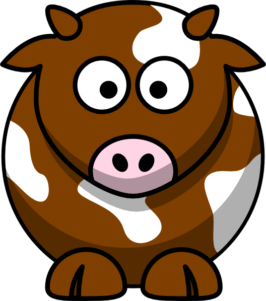 jpg library download Brown clipart cartoon. Patch cow clip art