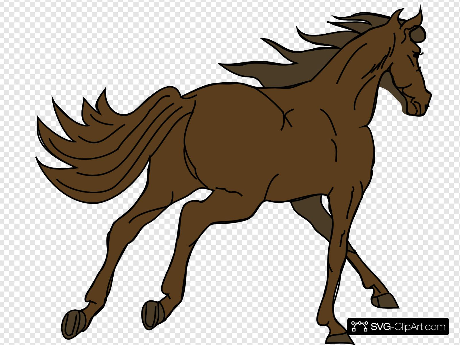 banner royalty free Running clip art icon. Brown clipart horse