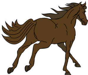 png royalty free stock Brown clipart horse. Running clip art at