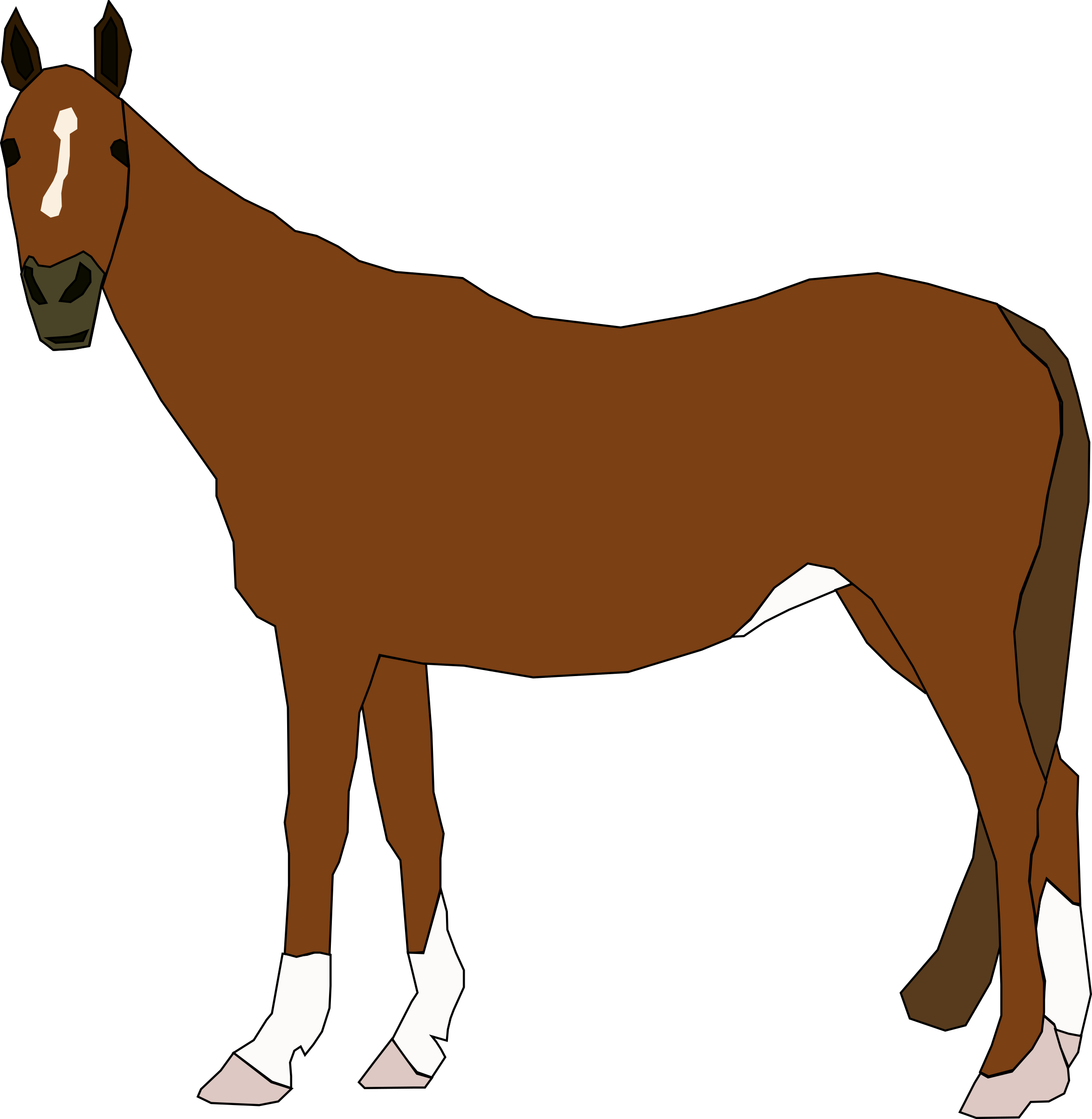 svg stock  of typegoodies me. Brown clipart horse