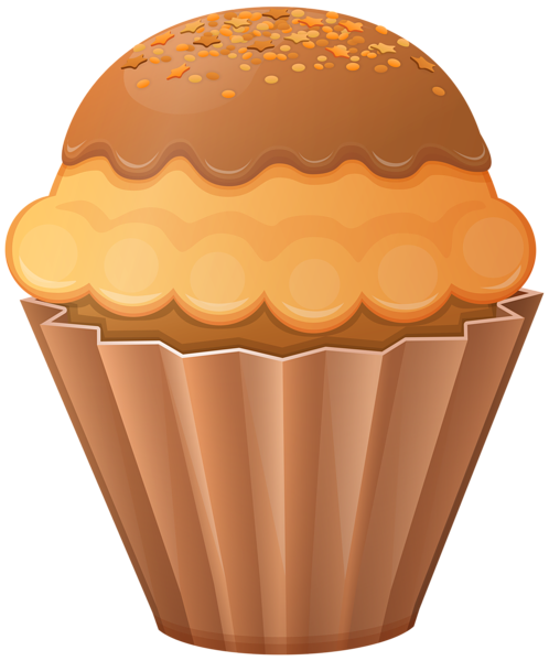 clipart transparent download Brown clipart muffin. Cupcake pencil and in