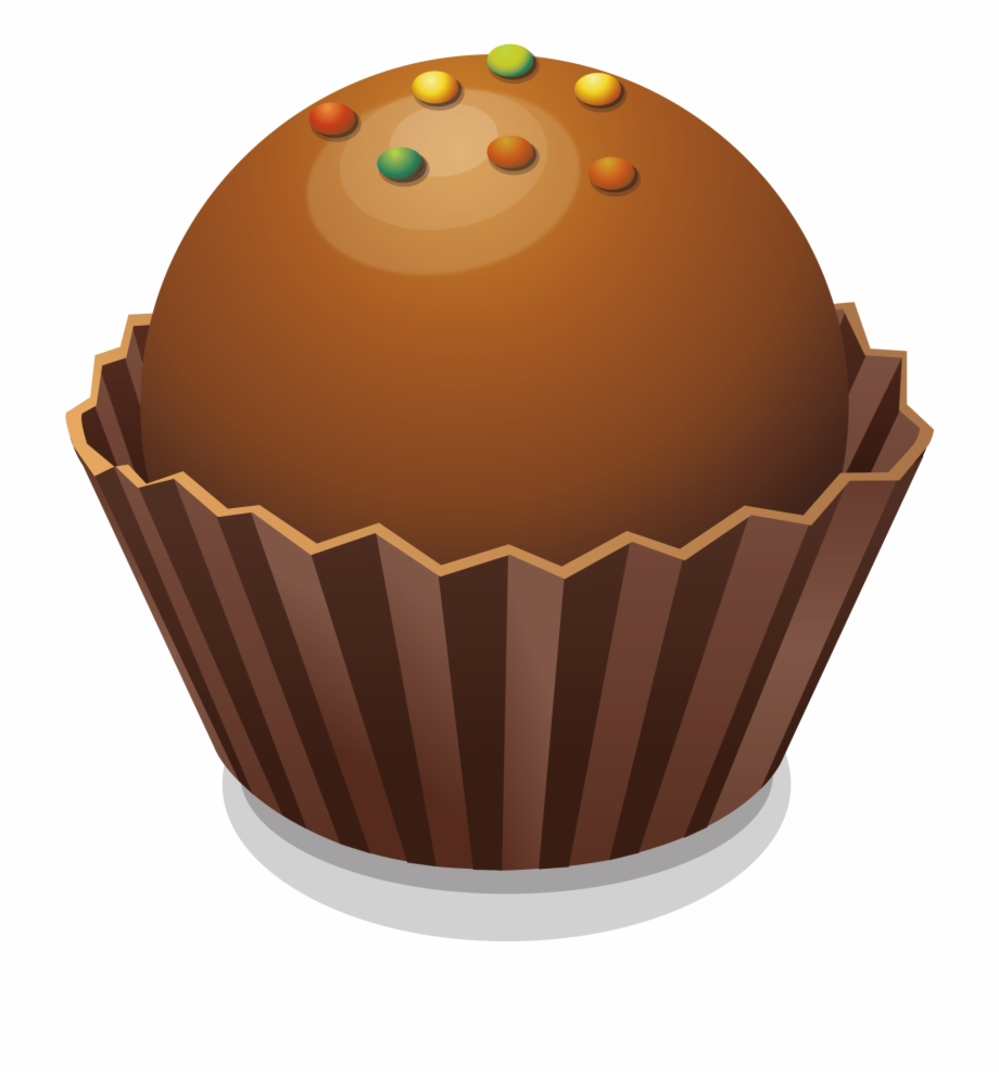 graphic free Brown clipart muffin. Food cupcake transparent png