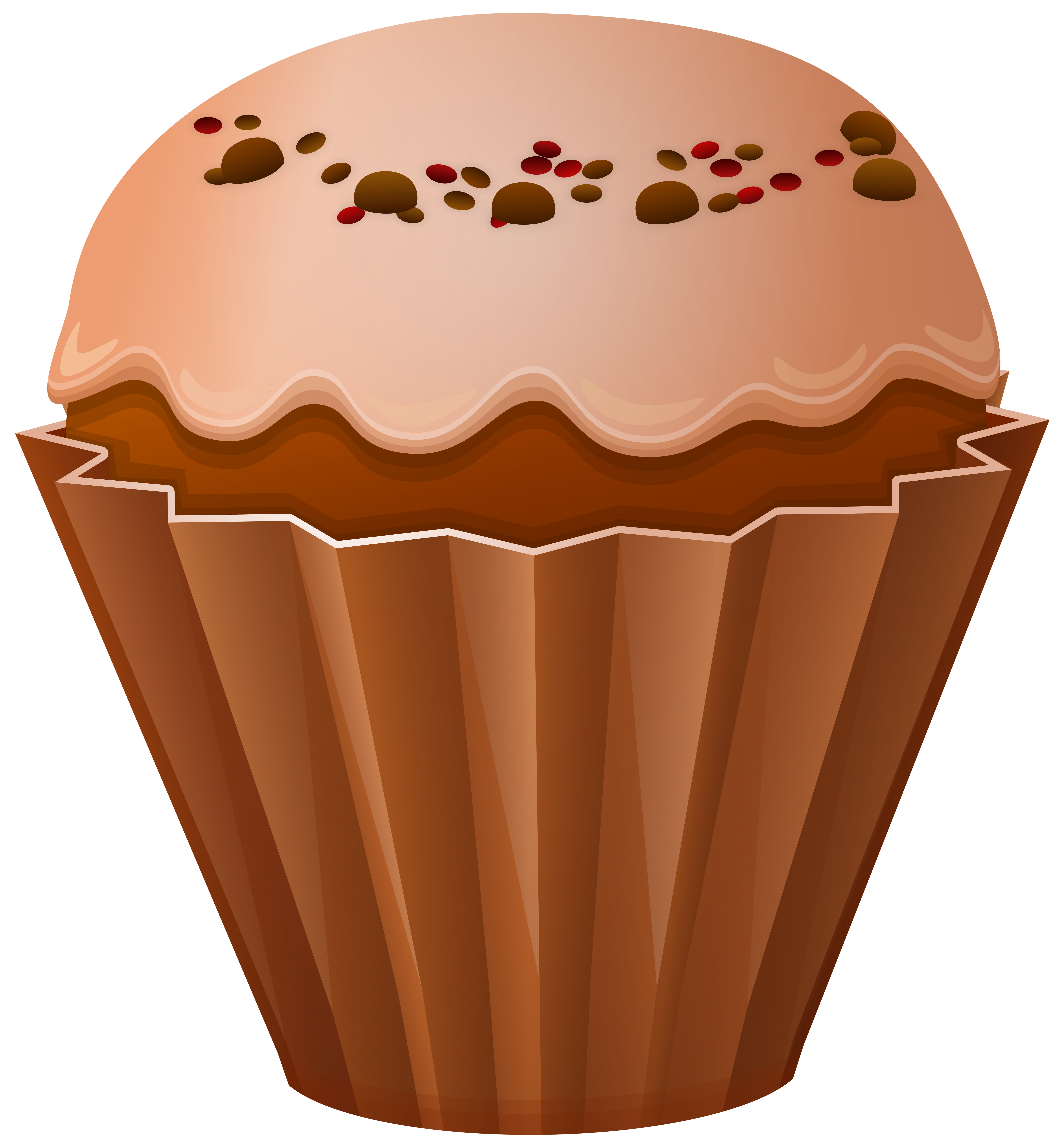 graphic library stock Png clip art gallery. Brown clipart muffin