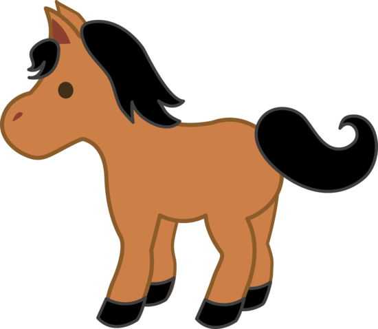 jpg free library Brown clipart pony. With black mane animales