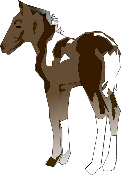 graphic freeuse stock Brown clipart pony. Clip art at clker