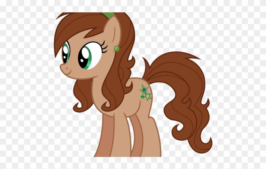 clipart free Brown clipart pony. Hair my little lene