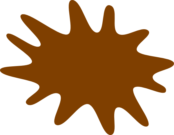 vector freeuse Brown clipart splat. Paint clip art at.