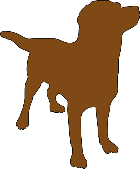 picture royalty free download Brown Dog Silhouette Clip Art at Clker