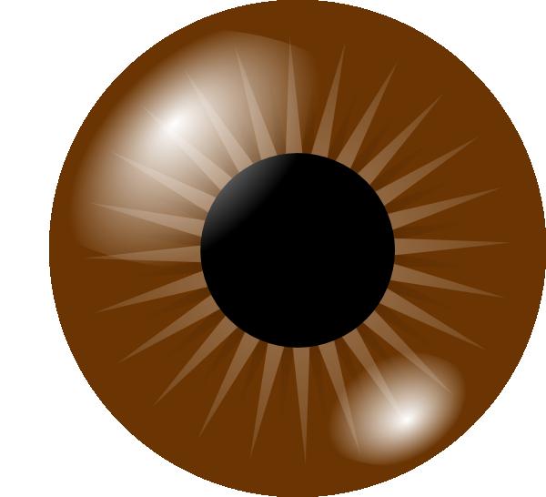 jpg black and white library Brown Eye Clip Art