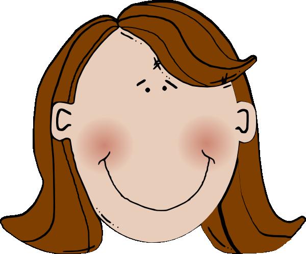 clip Brown Hair Clipart