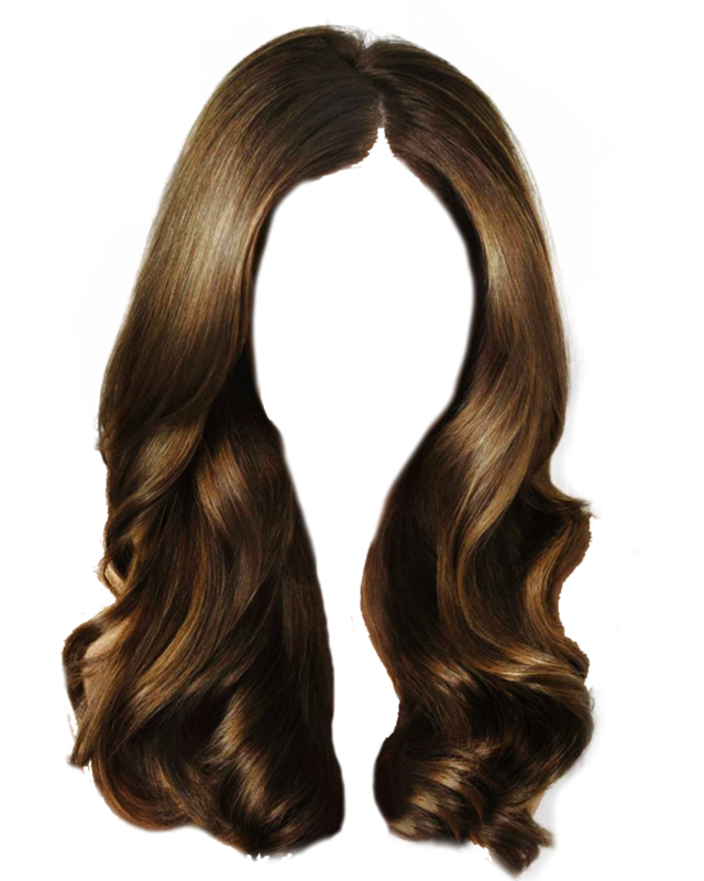 vector free Brown hair Long hair Wig Clip art