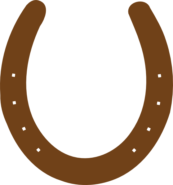 banner royalty free library Brown Horseshoe Clip Art at Clker