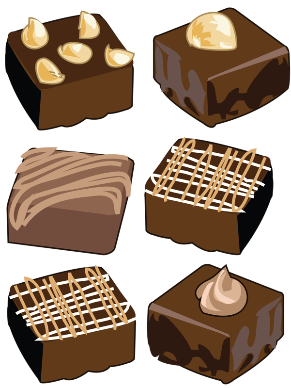 png transparent library Brownie clipart. Set of cookies and.