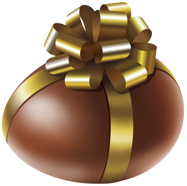picture free Brownie clipart easter chocolate. Egg with gold bow