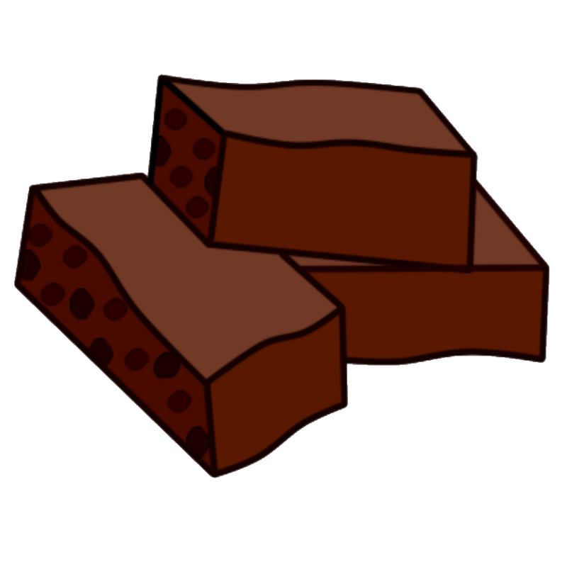 graphic free stock Brownie clipart fudge.  collection of png