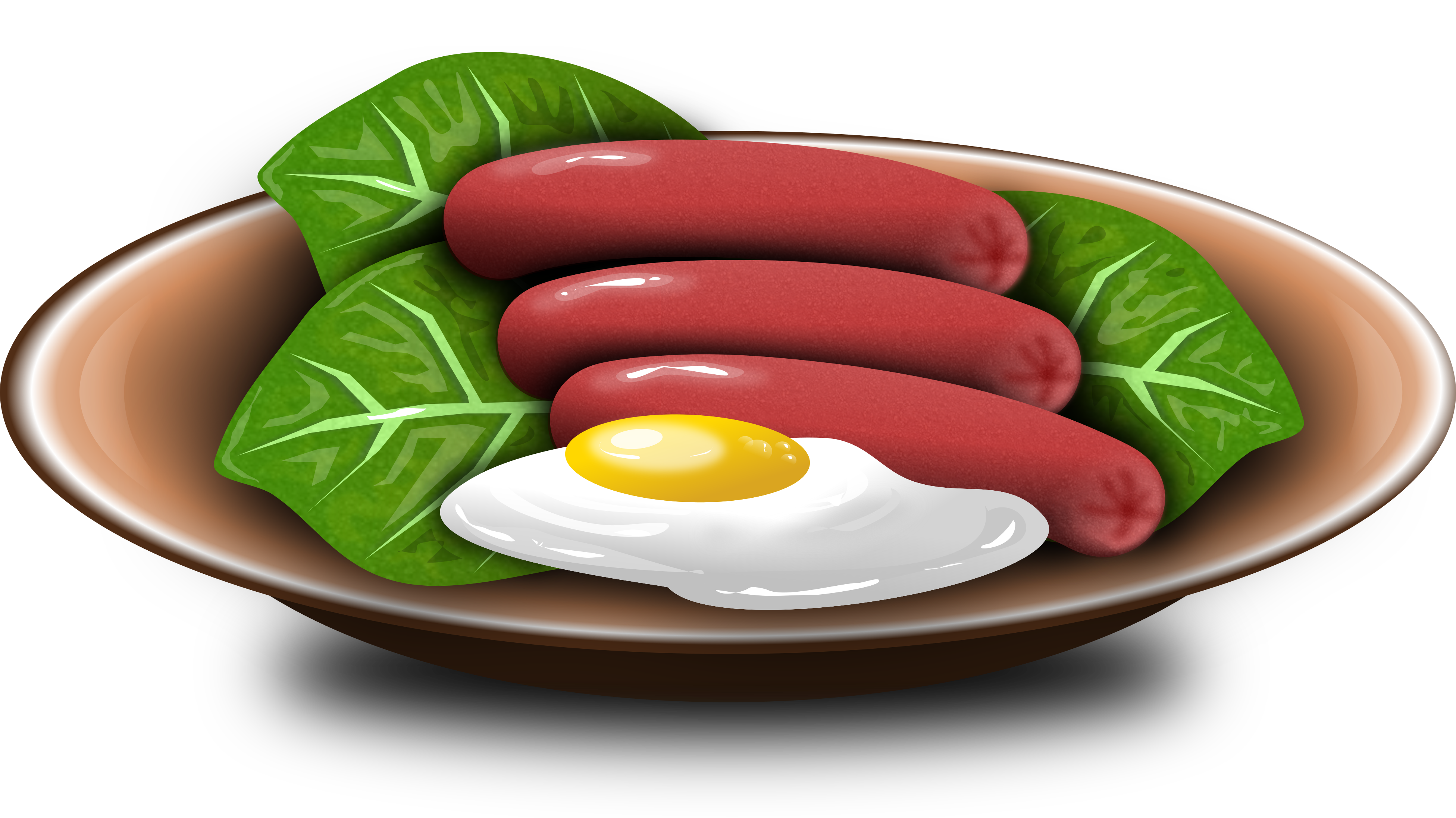 clip art free Brownie clipart old fashioned. Hotdogs and fried egg