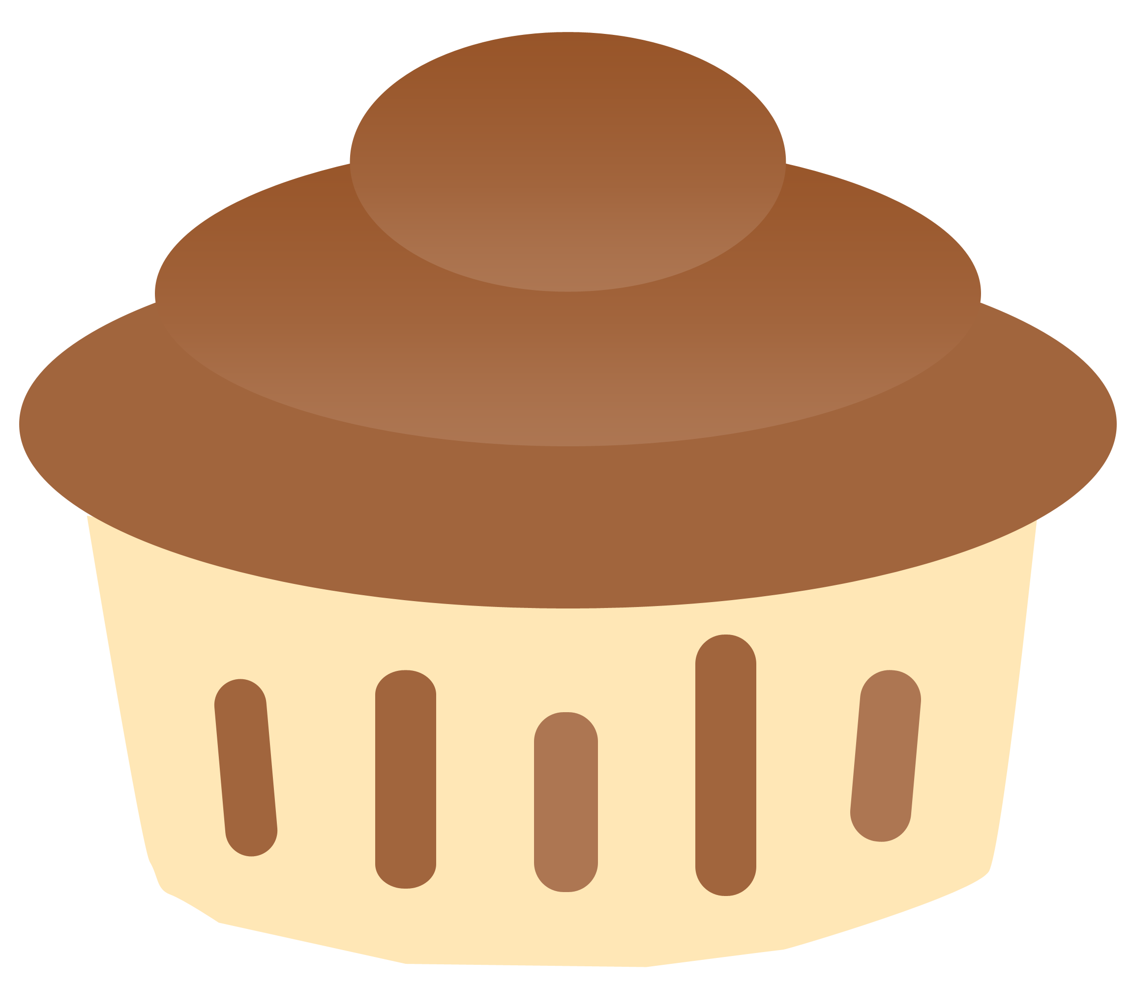 png library download Brownie clipart plain. Cupcake pencil and in.