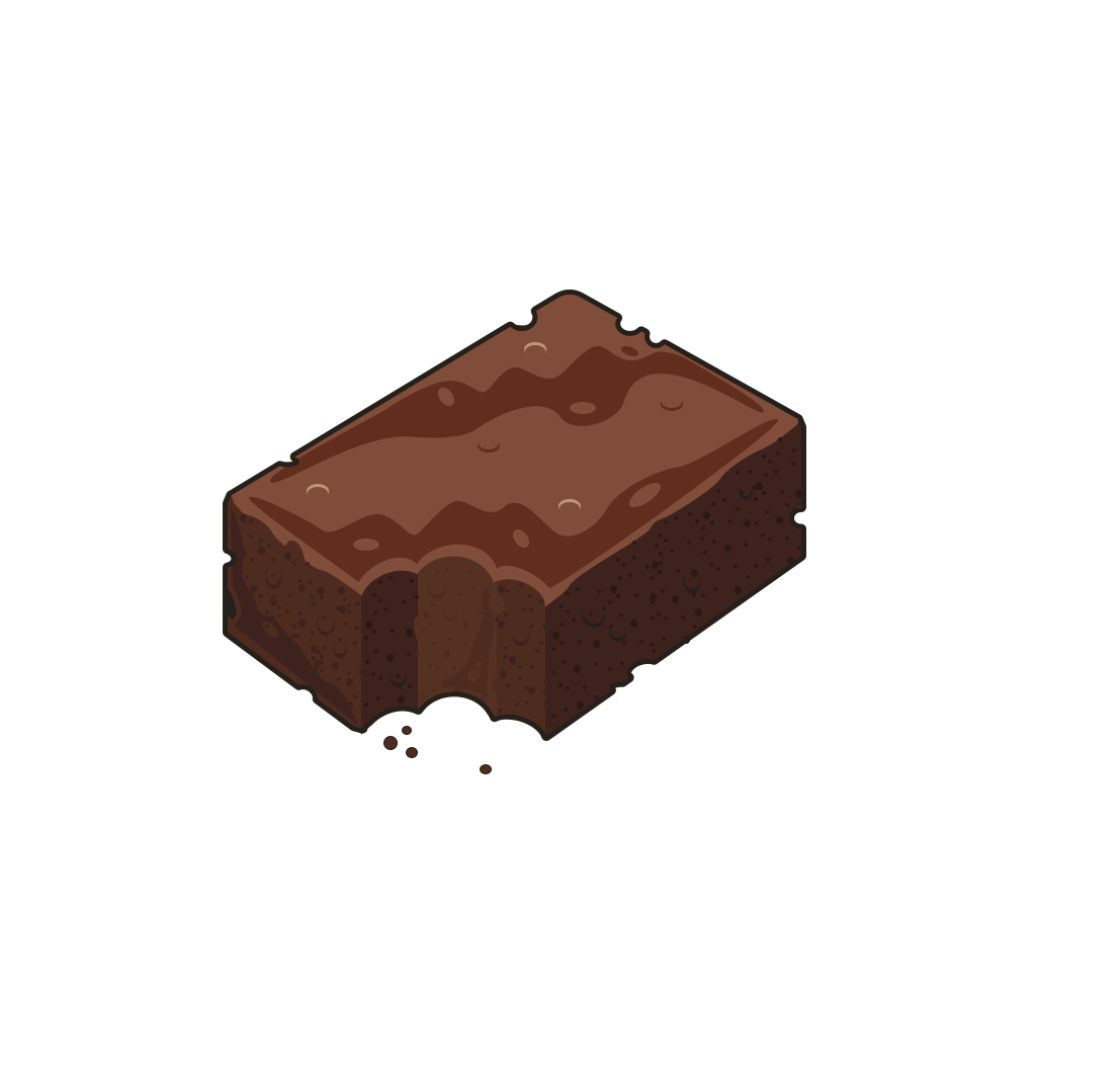 image freeuse library Mum s bakery build. Brownie clipart plain.