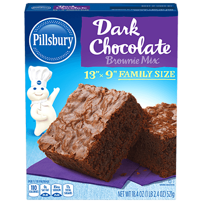 svg Brownies clipart american chocolate. Dark brownie mix pillsbury